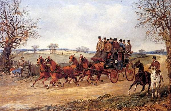 A Coach And Four On An Autumn Road
